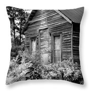 Rustic Homestead - Antique Home Barn Country Rural Throw Pillow