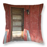 Rustic In Red Throw Pillow