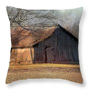 Rustic Midwest Barn Throw Pillow