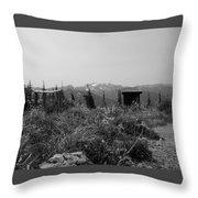 Rustic Montana View Throw Pillow