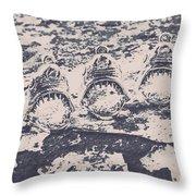 Rustic Nautical Artwork Throw Pillow