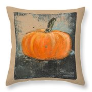 Rustic Pumpkin Throw Pillow