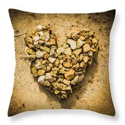 Rustic Rock Romance Throw Pillow