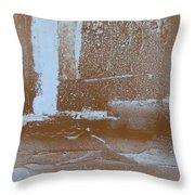 Rustic Snow Throw Pillow