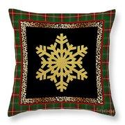 Rustic Snowflake-jp3692 Throw Pillow