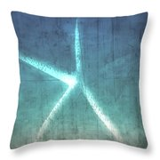 Rustic Starfish Throw Pillow
