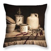 Rustic Table Setting Still Life Throw Pillow