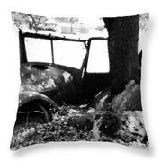 Rustic Truck Throw Pillow