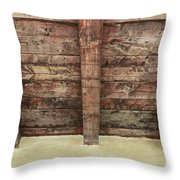 Rustic Wood Beams Throw Pillow