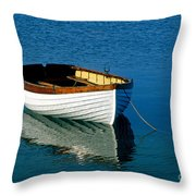 Rustic Wooden Row Boat. Throw Pillow
