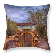 Rusting In Robson's Mining World Throw Pillow