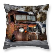 Rusting In Winter Throw Pillow