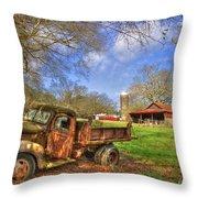Rusty 1947 Dodge Dump Truck Throw Pillow