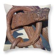 Rusty Anchor Chain Throw Pillow