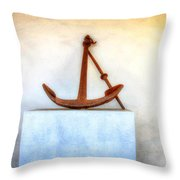 Rusty Anchor Throw Pillow