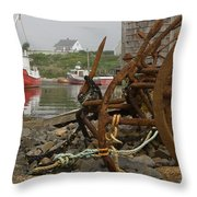 Rusty Anchors-2 Throw Pillow