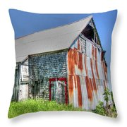 Rusty Barn Throw Pillow