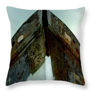 Rusty Bow Throw Pillow