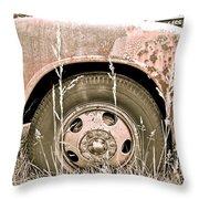 Rusty But Trusty Throw Pillow
