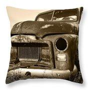 Rusty But Trusty Old Gmc Pickup Throw Pillow by Gordon Dean II