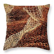 Rusty Chain Link Throw Pillow