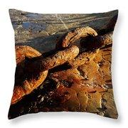 Rusty Chain Throw Pillow
