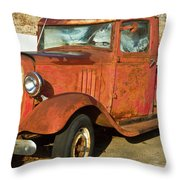 Rusty Chevrolet Pickup Truck 1934 Throw Pillow