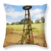 Rusty Garden Feature Throw Pillow