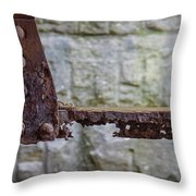 Rusty Girder Throw Pillow