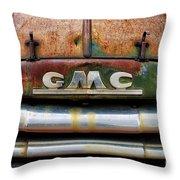 Rusty Gmc Truck Throw Pillow