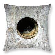 Rusty Hole Throw Pillow