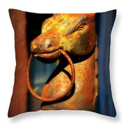 Rusty Horse Throw Pillow