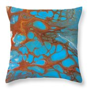 Rusty Lace Throw Pillow