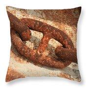 Rusty Links 1 Throw Pillow