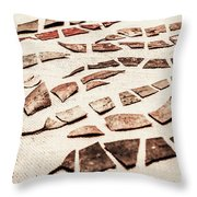 Rusty Metal Leaves Cut With Scissors Throw Pillow