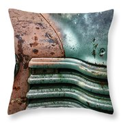 Rusty Old Beauty Throw Pillow