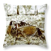 Rusty Old Holden Car Wreck  Throw Pillow
