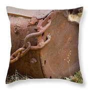 Rusty Old Ore Scoop Throw Pillow