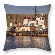 Rusty Old Tug Boat Throw Pillow