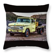 Rusty Old Work Truck Throw Pillow