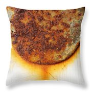 Rusty One Throw Pillow