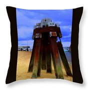 Rusty Pillars Throw Pillow