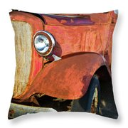 Rusty Red Chevrolet Pickup Truck 1934 Throw Pillow