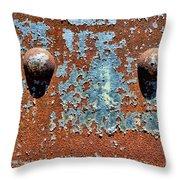 Rusty Rivets Throw Pillow