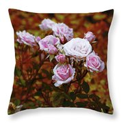 Rusty Romance In Pink Throw Pillow by Ivana Westin