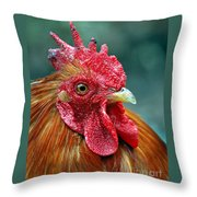 Rusty Rooster Throw Pillow
