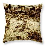 Rusty Rural Ramshackle Throw Pillow