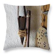 Rusty Sheep Shears Throw Pillow