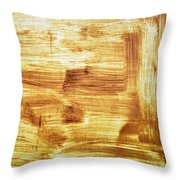 Rusty Sheet Metal Coating Throw Pillow
