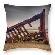 Rusty Shipwreck Throw Pillow